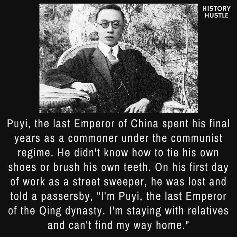 History Hustle Puyi China fact