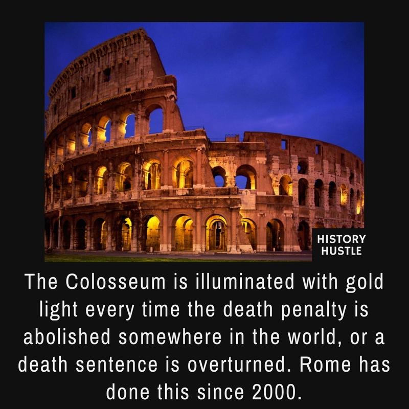History Hustle colosseum death penalty fact