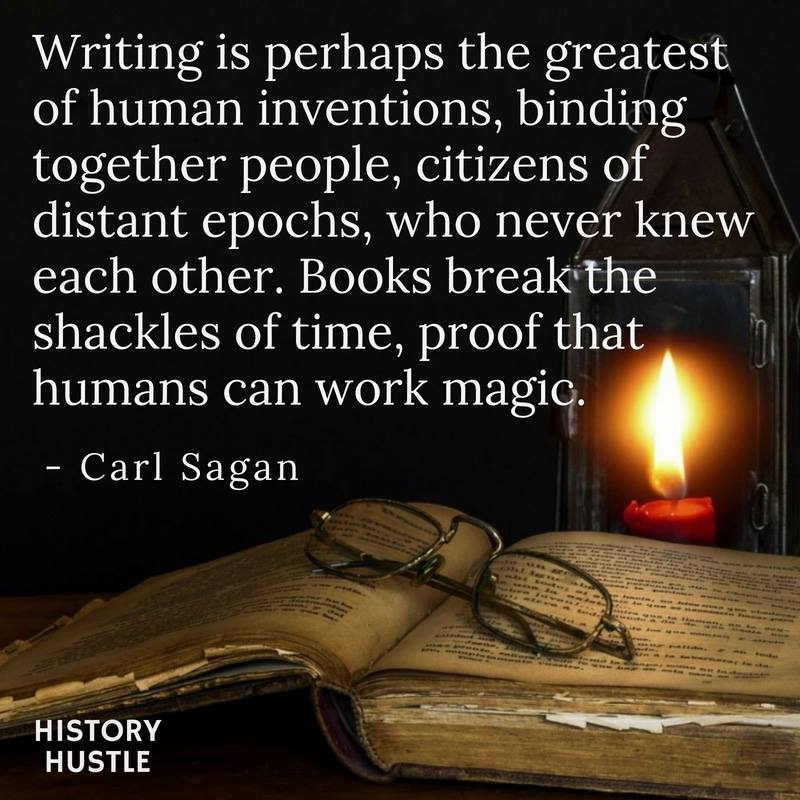 History HustleCarl Sagan quote