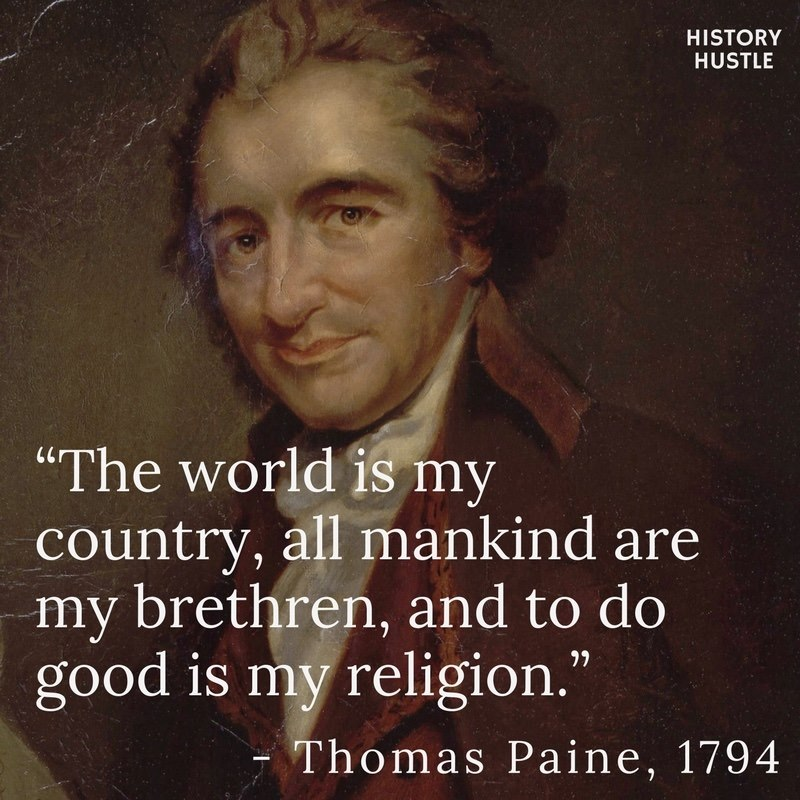 History Hustle Thomas Paine quote