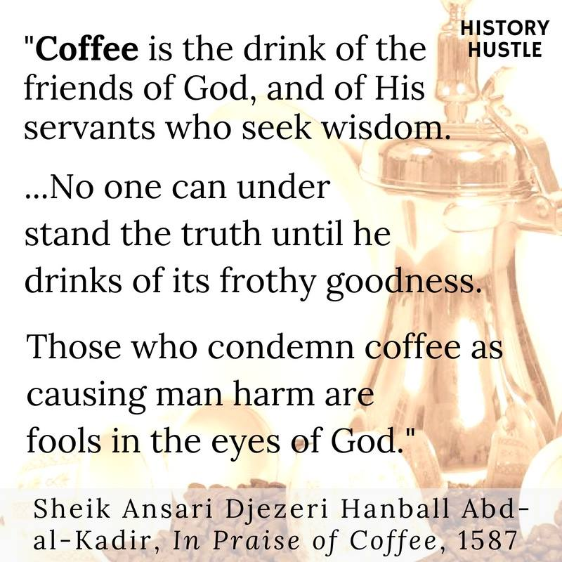 History Hustle coffee quote