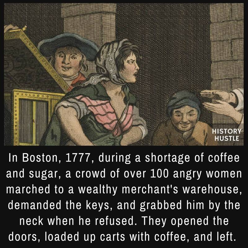 Boston coffee shortage fact History Hustle