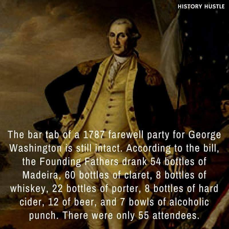 Founding fathers bar tab History Hustle fact