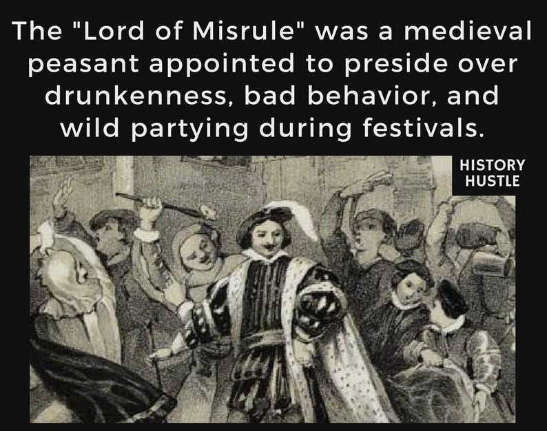 Medieval lord of misrule History Hustle fact photo