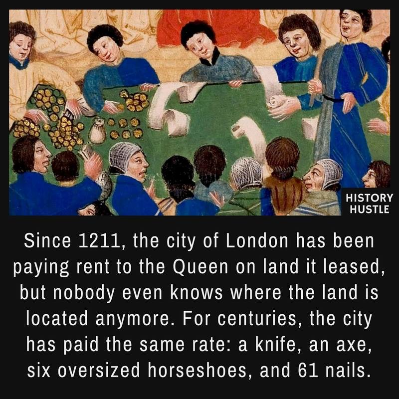 Medieval rent History Hustle fact photo