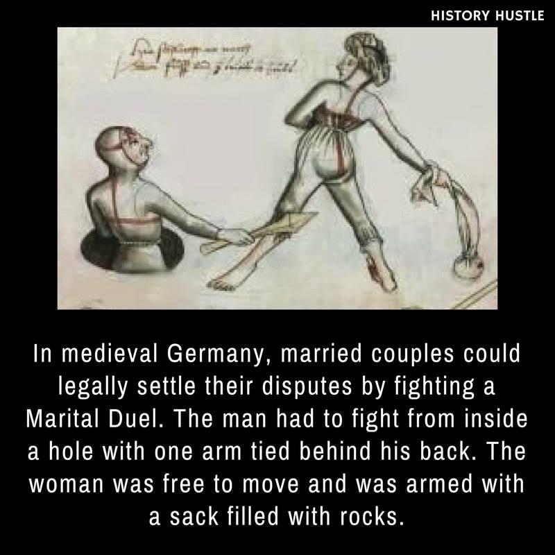 Medival Marital duel History Hustle fact image