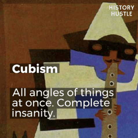 Art History in 90 Seconds History Hustle Cubism image