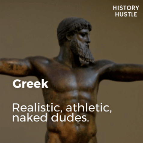 Art History in 90 Seconds History Hustle Greek image