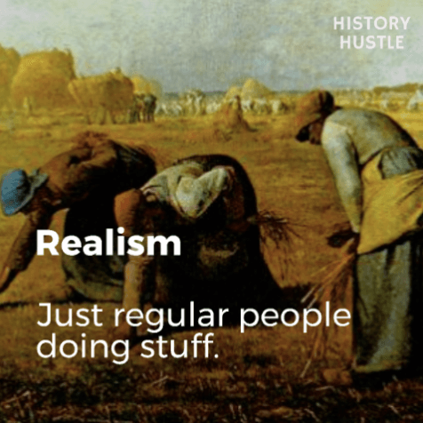 Art History in 90 Seconds History Hustle Realism image