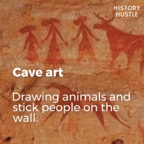 Art History in 90 Seconds History Hustle cave art image