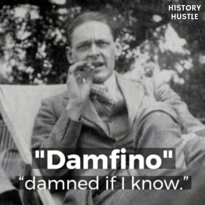 History Hustle Victorian Slang damfino image