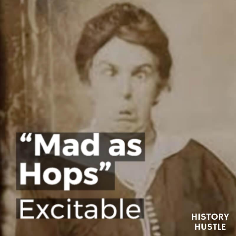 History Hustle Victorian Slang mad as hops image