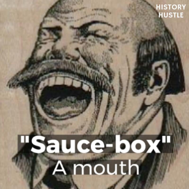History Hustle Victorian Slang sauce box image