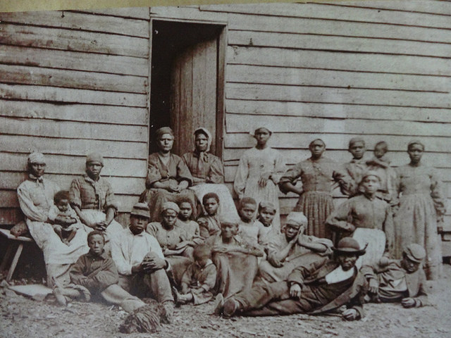 Slaves in 19th century image
