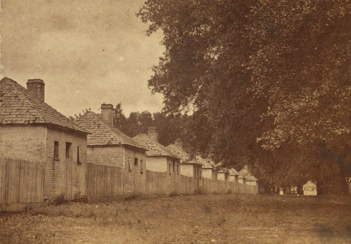 Slave houses in 19th-century Georgia image