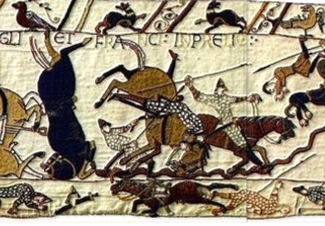 History Hustle Bayeux Tapestry scene image