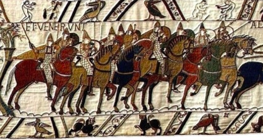 History Hustle what is the Bayeux Tapestry image