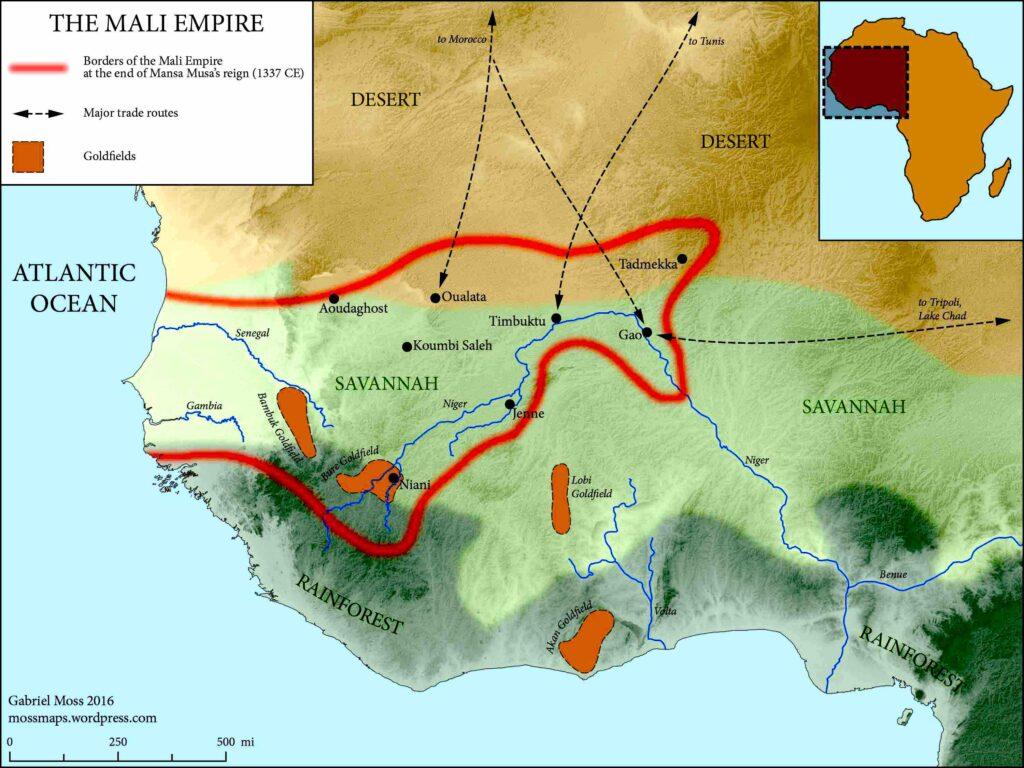 mali empire map