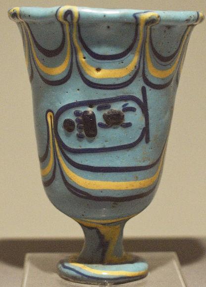 Blue Thutmose III chalice