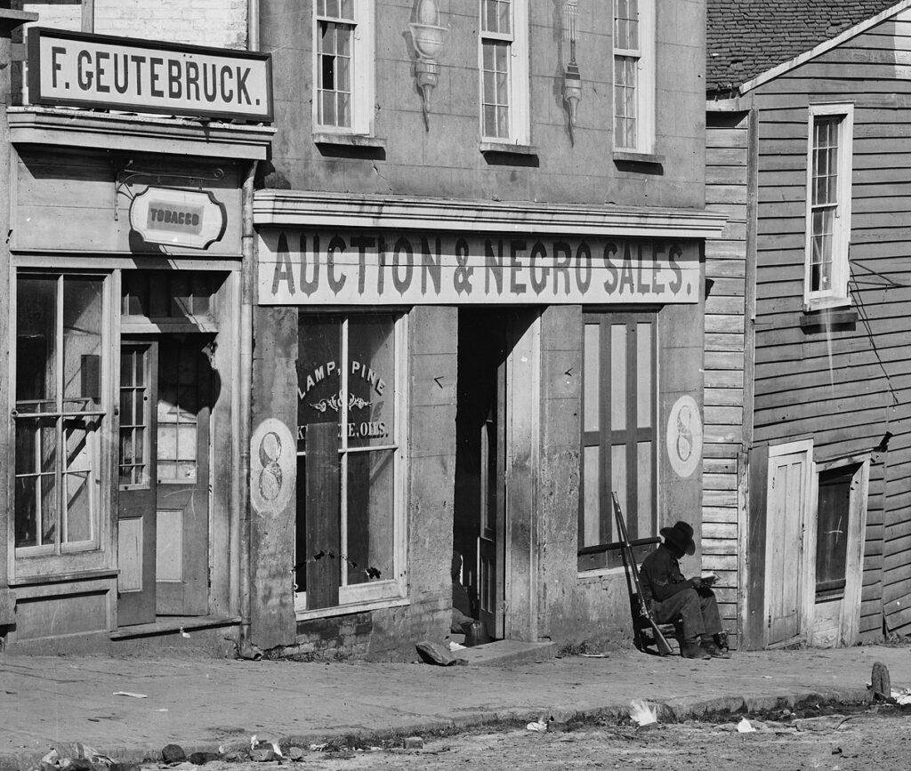 Slave Market Atlanta Georgia 1864
