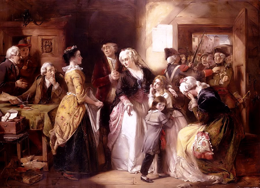 portrait of the Arrest of Louis XVI, Queen Marie Antoinette, and their family