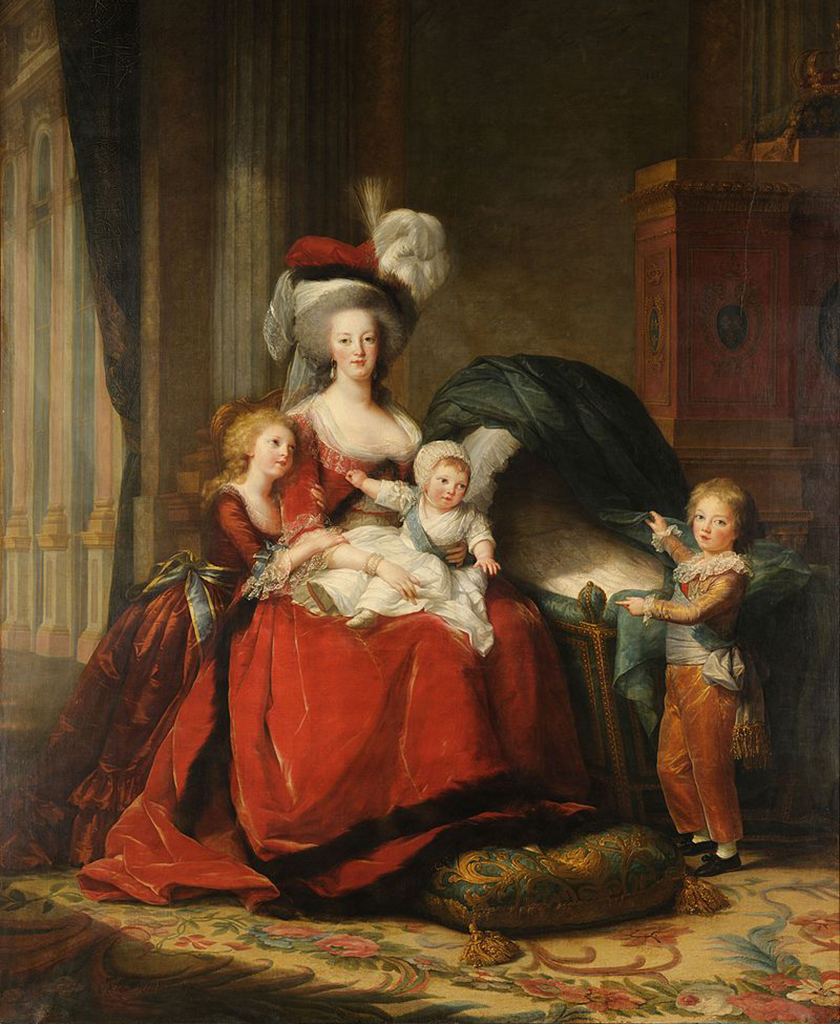 portrait of Marie Antoinette with her children Marie Therese, Louis Charles, and Louis Joseph
