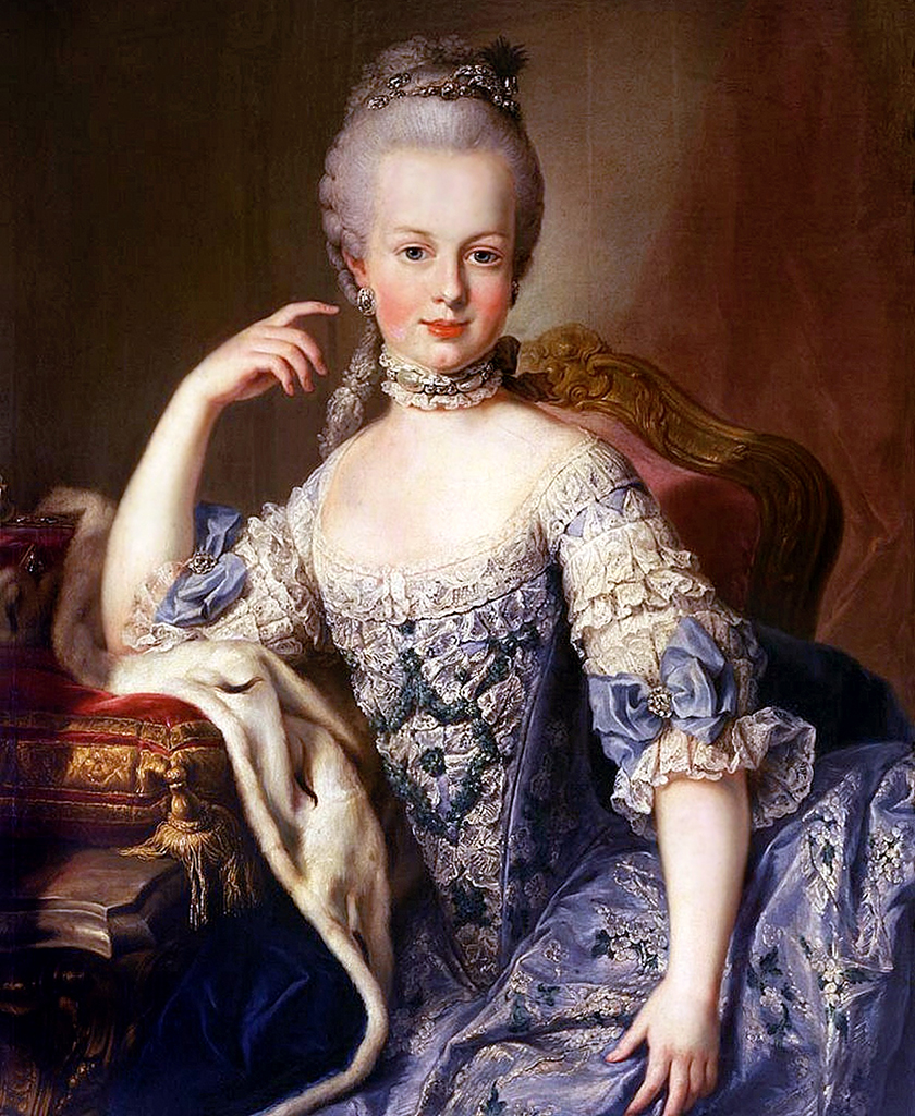 portrait of young Marie Antoinette