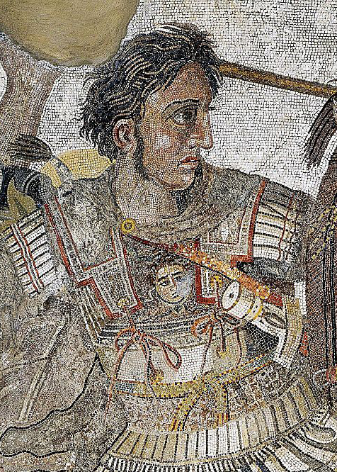 a mosaic of Alexander the Great, one of the famous poisonings in history