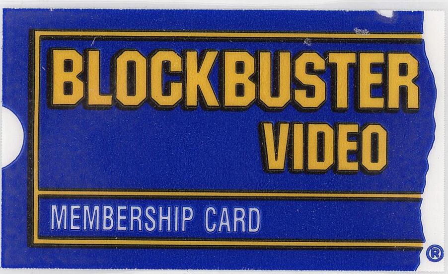 Blockbuster membership card