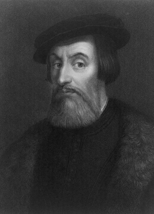 a portrait of Hernán Cortés