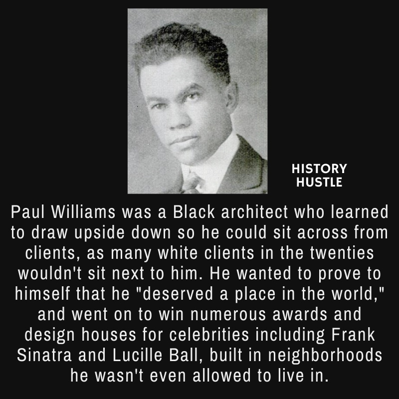 picture of Paul Williams with write up about his being an architect