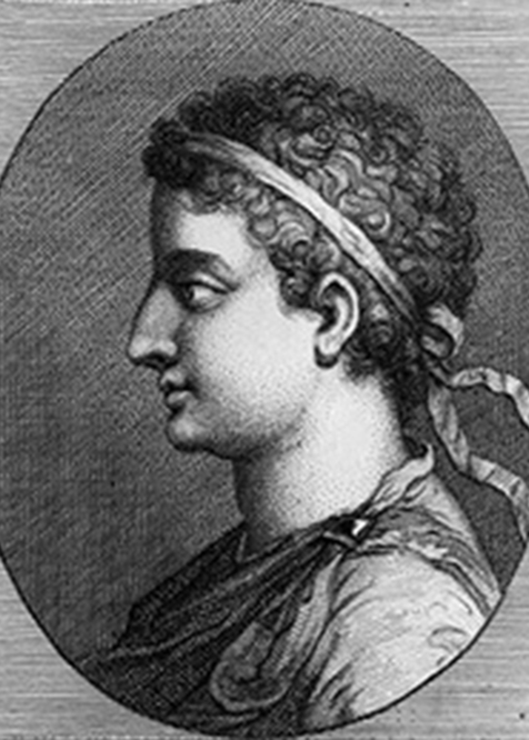 an illustration of Ptolemy XIV, another victim of famous poisonings in history