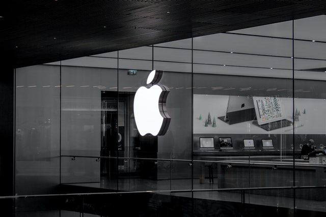 an image of an office with the apple logo