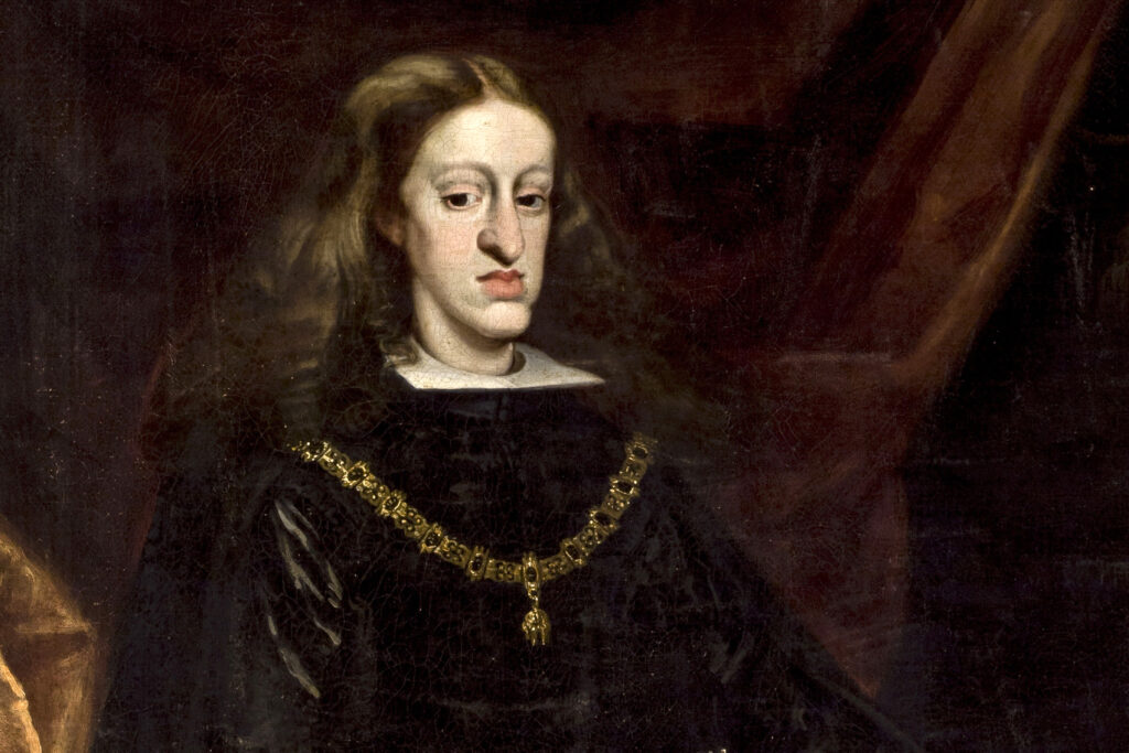 a portrait of Charles II also know as The Habsburg Jaw,