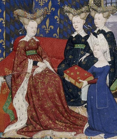 Christine de Pizan presenting her book