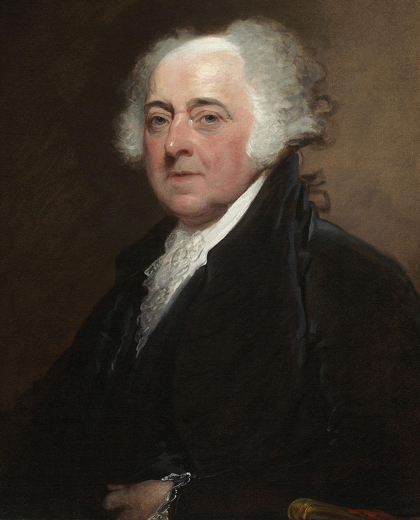 portrait of John Adams, one of the Founding Fathers