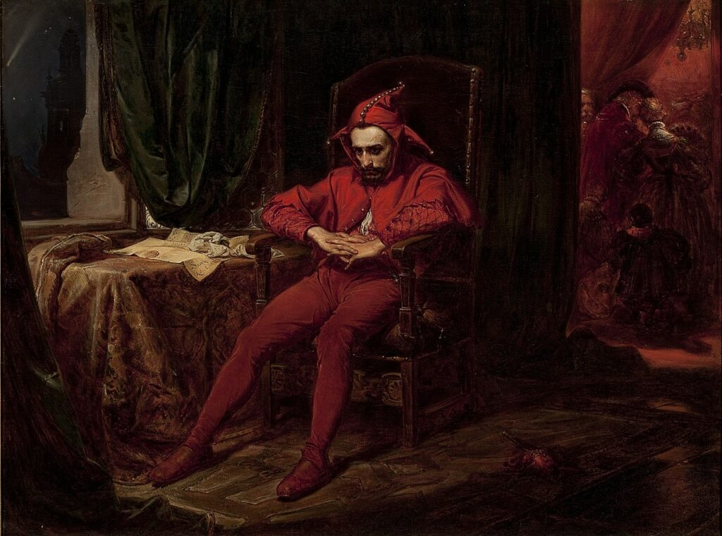 painting of a court jester