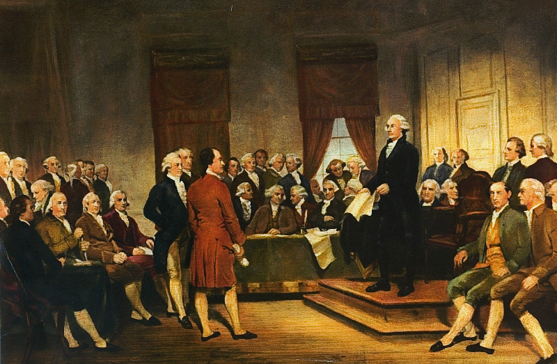 Founding Fathers during the signing of the U.S. Constitution