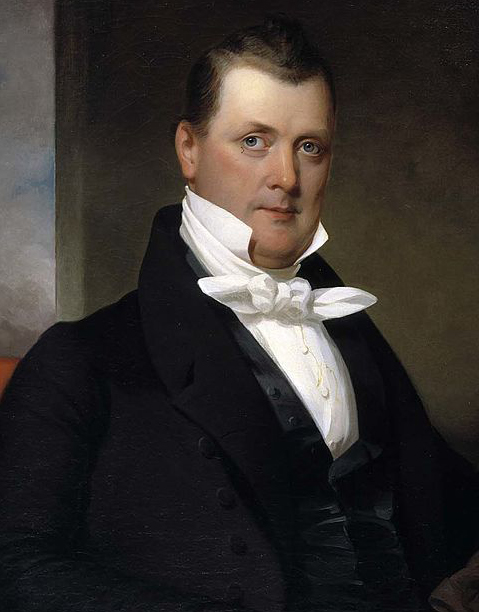 a portrait of a younger James Buchanan painted by J. Eichholtz