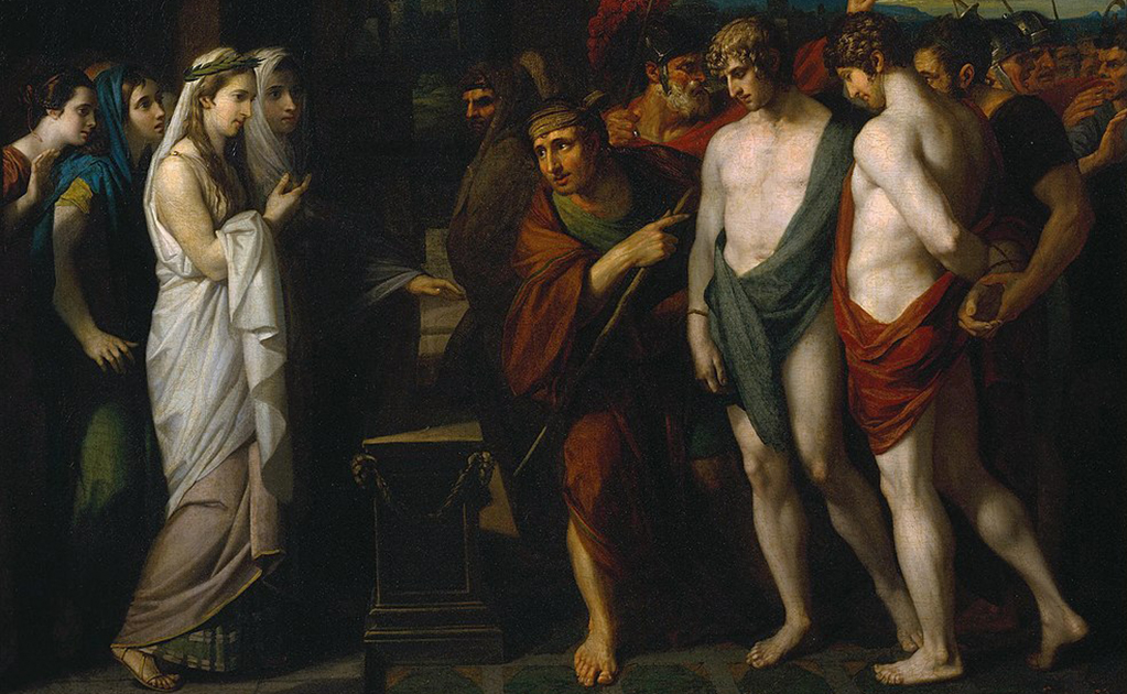Pylades and Orestes Brought as Victims before Iphigenia by Benjamin West, one of the known LGBTQ couples in history