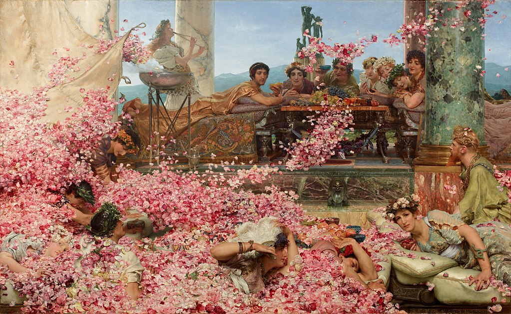 The Roses of Heliogabalus, depicting the young Roman emperor Elagabalus (203–222 AD) hosting a banquet.
