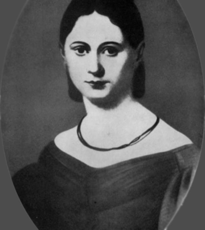 portrait of Jenny von Westphalen in the 1830s