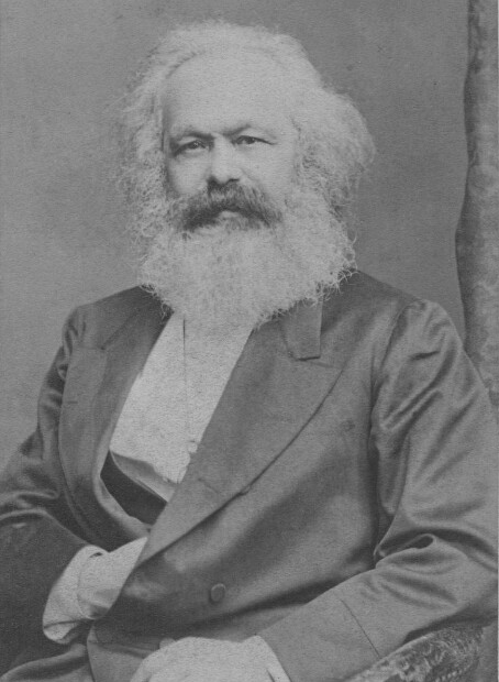 portrait of Karl Marx, circa 1870