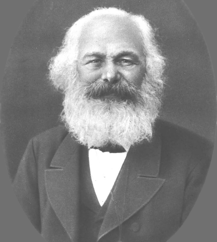 portrait of Karl Marx, circa 1882