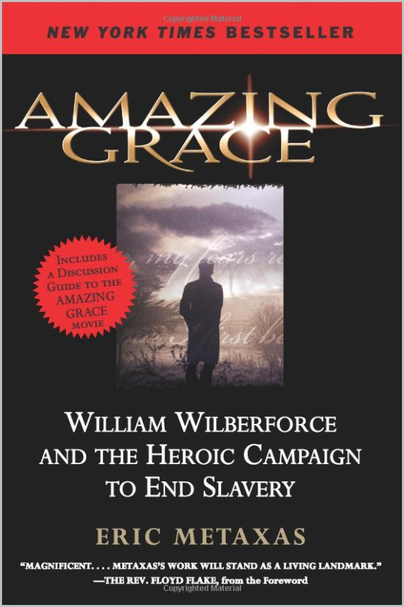 book cover of Amazing Grace by Eric Metaxas
