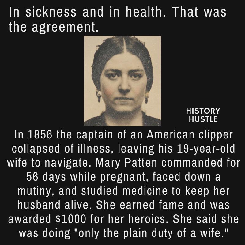Mary Patten History Hustle fact