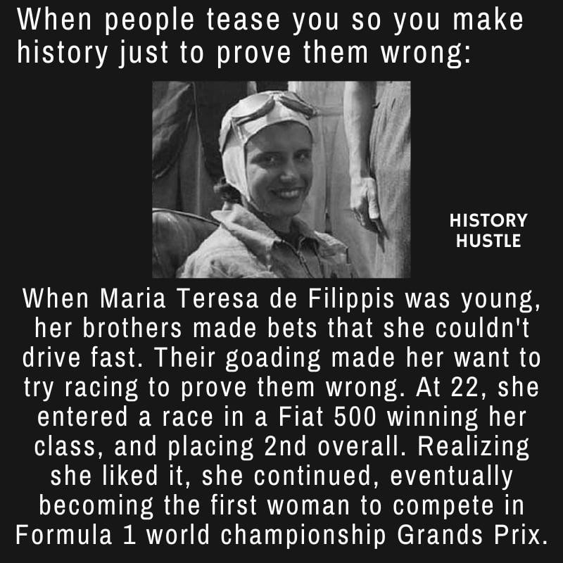 Maria Teresa de Filippis, historyhustle