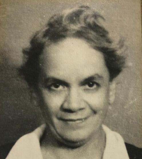 a black and white head shot of Carmen Lyra